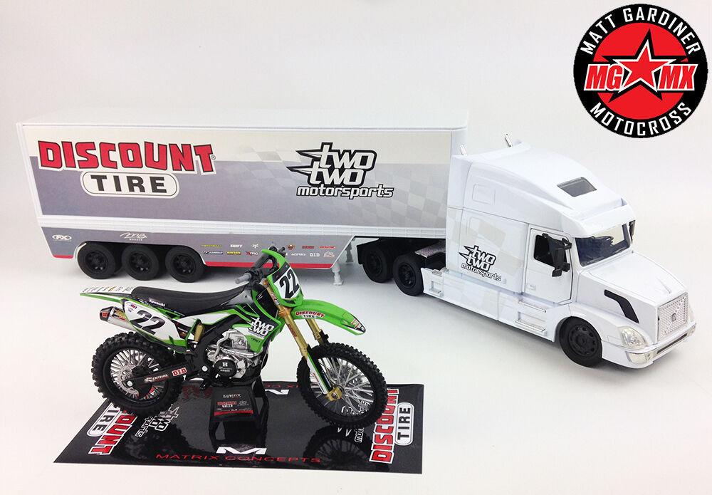 Chad Chad Chad Reed 22 Motorsports Geschenkbox Kawasaki Kxf450 Motocross 92783f