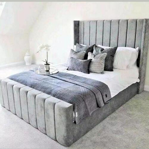 NEW BEST SELLER WINGBACK LINED BED FRAME DEEP UPHOLSTERED