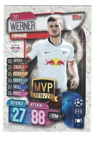 2019-20 Topps Match Attax UEFA UCL - #C-LEI TIMO WERNER MVP 19 20 RB Leipzig