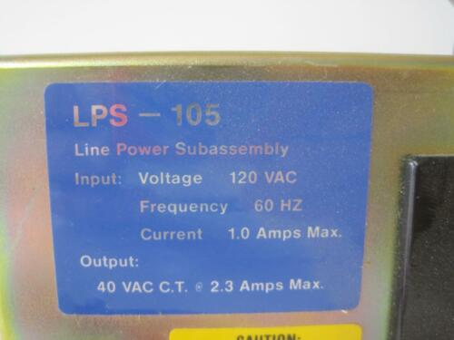 Johnson Controls Line Power Subassembly LPS-105 120V 60Hz Used #0 day Guarantee