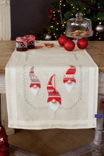 1x Embroidery Kit Thread Runner Christmas Elves Sewing Craft Tool Hobby UK 5966