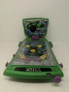 The Incredible Hulk Comics Marvel Mini Tabletop Pinball Machine 2003 Working