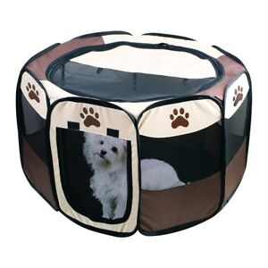 Image Is Loading Portable Dog Pen Outdoor Amp Indoor Puppy Pen