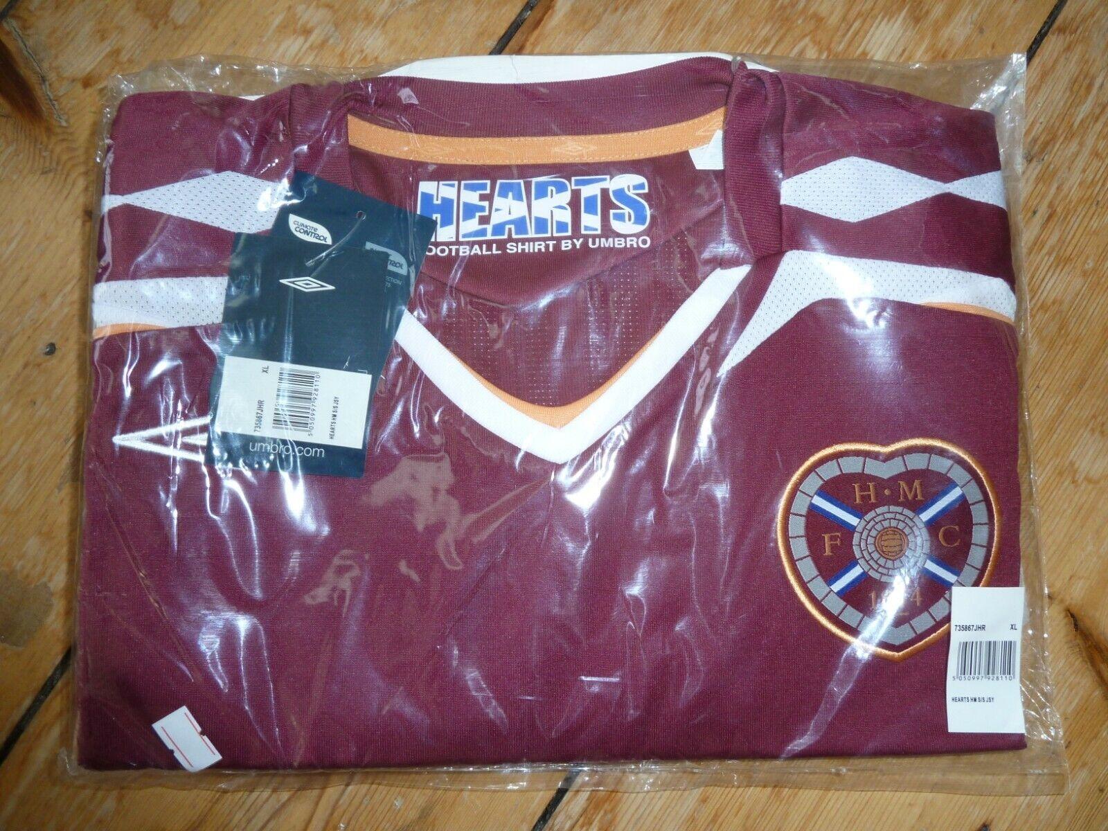 Heart Of Midlothian Cuori TShirt Calcio Maglia 200708 Taglia XL nuovo con