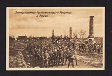 37985/Ak - 1. guerra mundial-Paseo de nuestra campo gris en Janowo - *