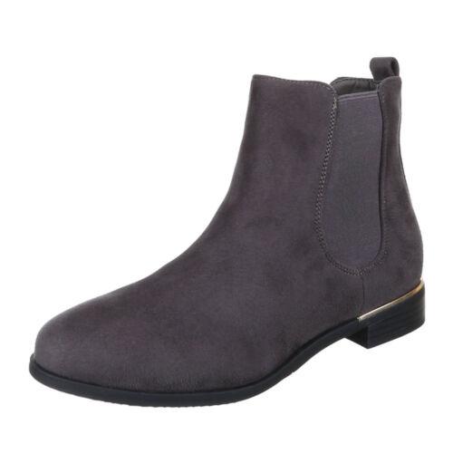 Stretch Stiefeletten Chelsea Boots Damenschuhe 2349 Ital-design