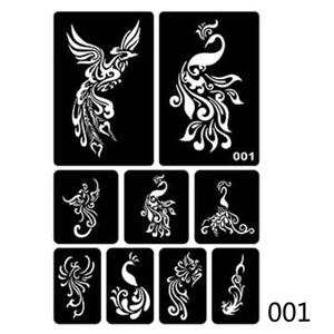 Hollow Henna Tattoo Stencil Template Body Hand Art Paste Drawing 01 ...