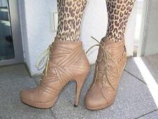Stiefeletten zum schnüren , Mega Absatz , Marke - Sweet Shoes , Größe 38 , NEU