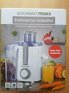 Details zu GOURMETmaxx Entsafter 250W WeißGrau Geschirrspüler geeignet NEU