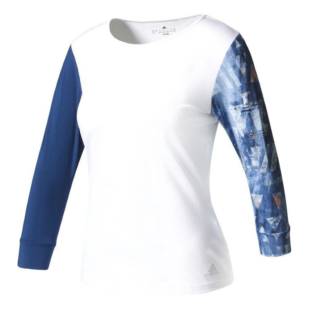 Adidas Womens Advantage 3 4 Sleeve Climalite Tennis T Shirt - NEW - XXS - XL