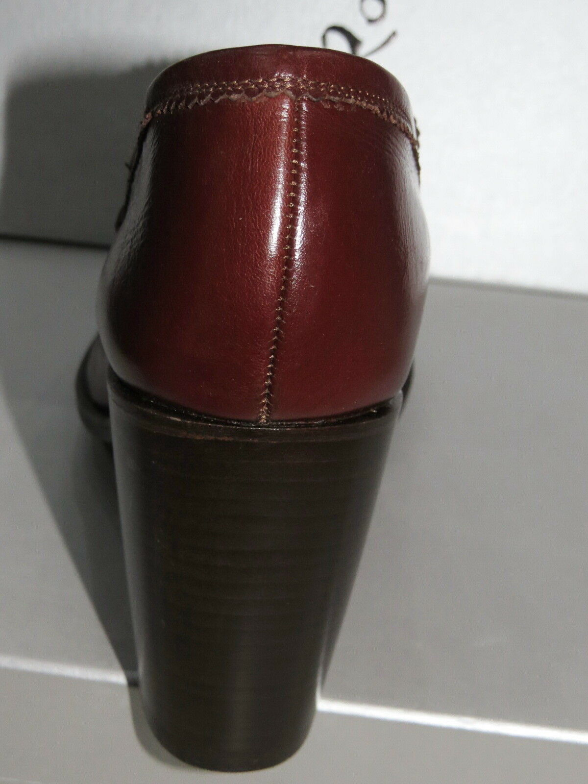 NEW ROCCO P Penny Loafer Pump Pump Pump Brown LEATHER SHOES SIZE 38 8 MADE IN ITALY  895 8a22f6
