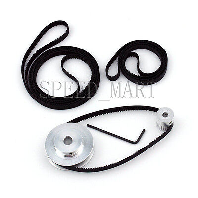 GT2 60T 20T Belt Width 6mmTiming Pulley Belt set kit Reduction Ratio 3:1