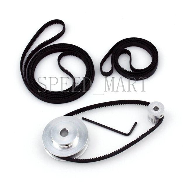 GT2 60T 20T Belt Width 6mmTiming Pulley Belt set kit Reduction Ratio 3:1