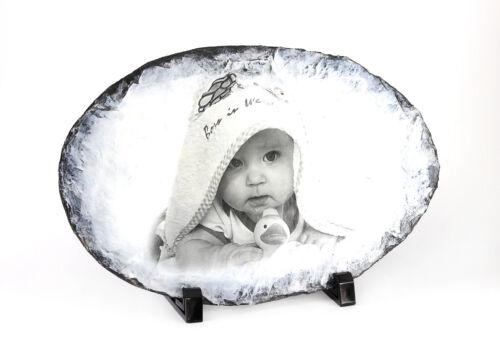 Photo on Slate Plate Gift Idea Birthday Family Christmas New Years Eve