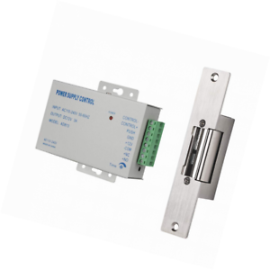 TMEZON Schmale Ausführung Elektrischer Türöffner mit Netzteilste Elektroschloss