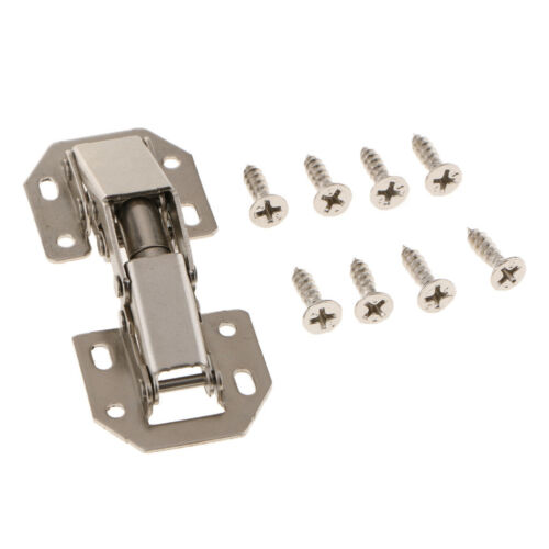 2×Door Cabinet Soft Close Hydraulic Buffer Hinges Furniture Silver Tone 3/'/'