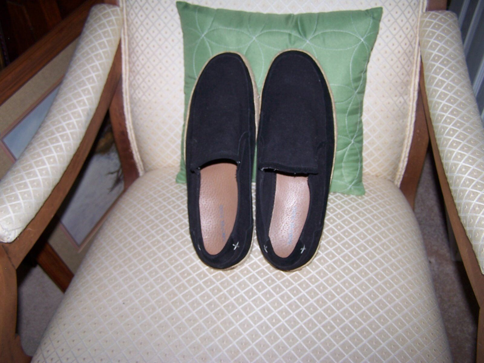 SACHA TOO Casual Shoes Men's Slip-on Canvas w/Leather Trim  Shoes Casual size 10M 4f5814