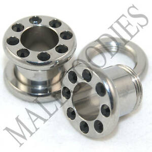 0575-Screw-on-Black-CZ-Tunnels-0-Gauge-0G-Plugs-8mm