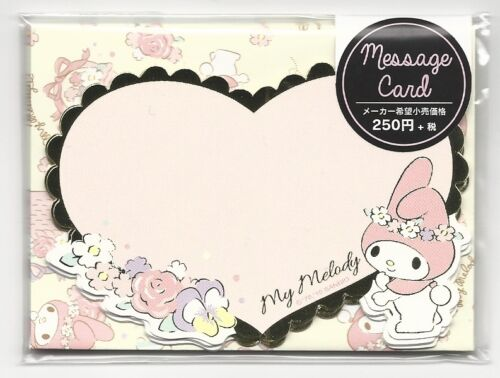 Sanrio My Melody Notecards With Envelopes Stickers Message Cards Heart
