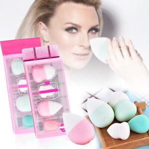 4Pc-Beaute-Maquillage-Blender-Fondation-Puff-Eponge-eponge-Fond-De-Teint-Houppe