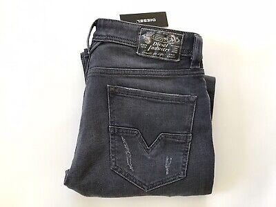 Diesel LARKEE R95X8 Regular Straight W32 L30 Mens Grey Stretch Denim Jeans