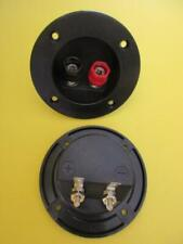 2 Pack 3 Round Cup Speaker Terminal Connector Dual Banana Binding Posts 1997