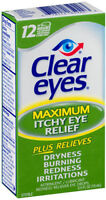 Clear Eyes Itchy Eye Relief Drops 0.50oz Each