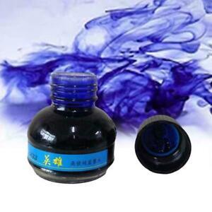 60ml-233-Blue-Carbon-Fuellfederhalter-Tinte-Schreibtinte-Nachfuellflasche-fuer-O4F6