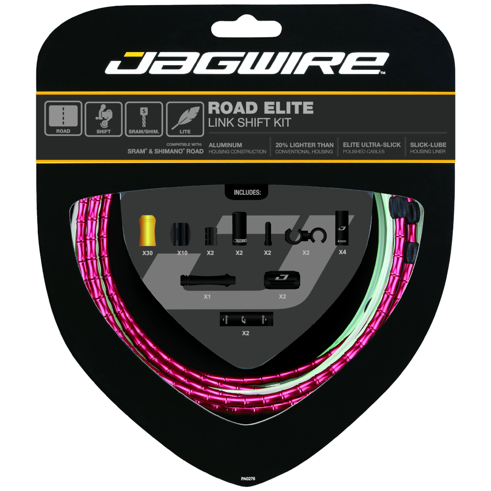 Jagwire Bicycle Cycle Bike Road Elite Link Shift Kit rot