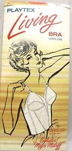 VTG Bullet Bra Playtex Living Bra 1960s NOS 36C  PinUp Rockabilly White #261