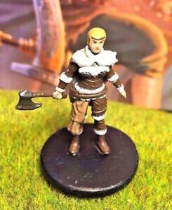 Berserker D/&D Miniature Dungeons Dragons pathfinder female barbarian human mad Z