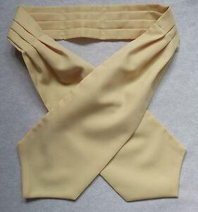 Vintage Ascot Cravat Homme Rétro Neckwear 1980 S Golden Crème Crème-afficher Le Titre D'origine
