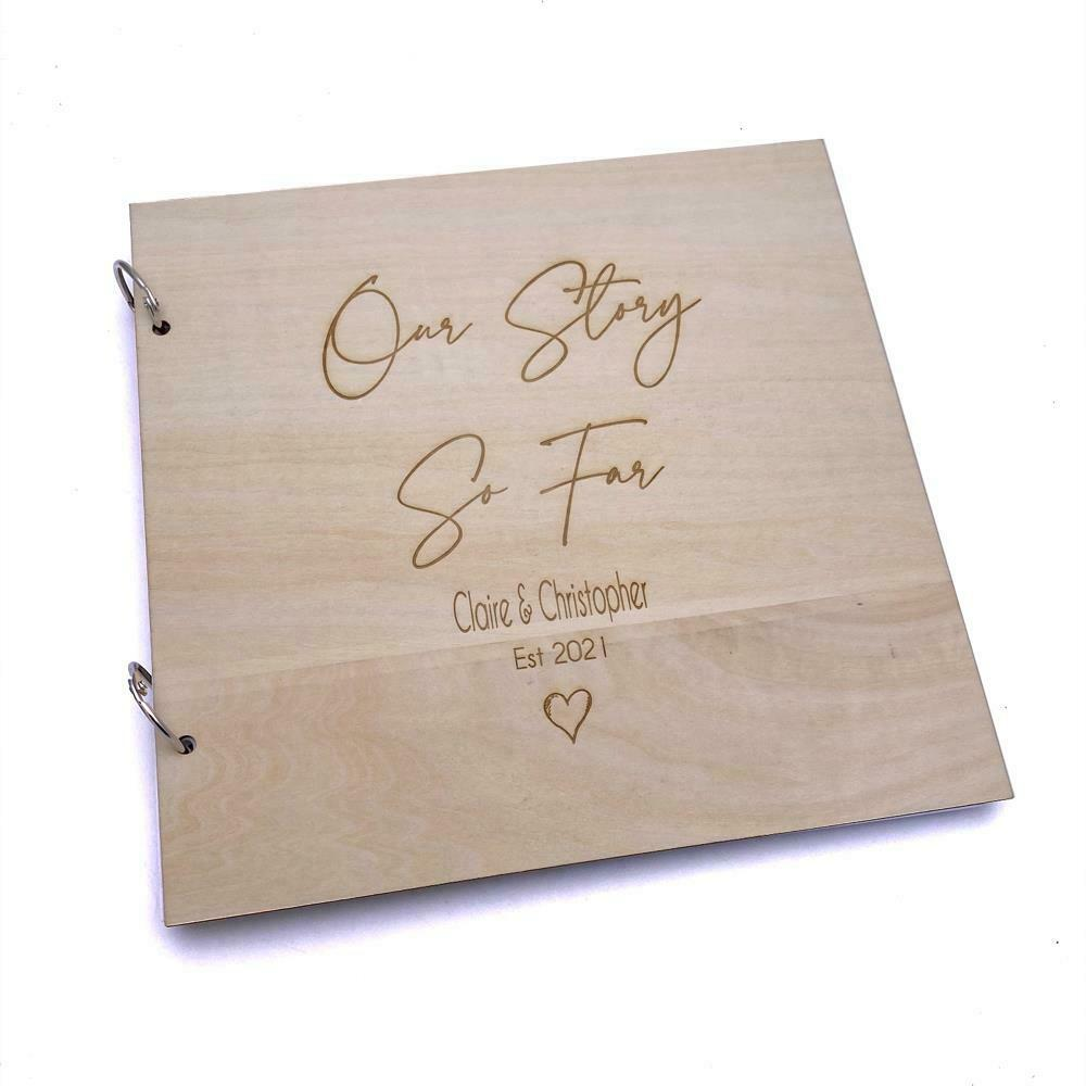Personalised Our Story So Far Scrap Book Photo Album Record Book LWOD-54