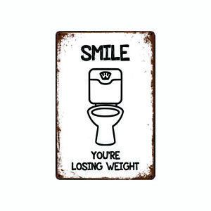 Metal Tin Sign smile on a camera Decor Bar Pub Home Vintage Retro Poster