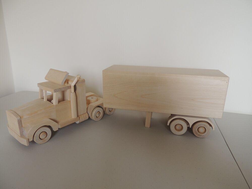En Bois Jouet Camion Wagon