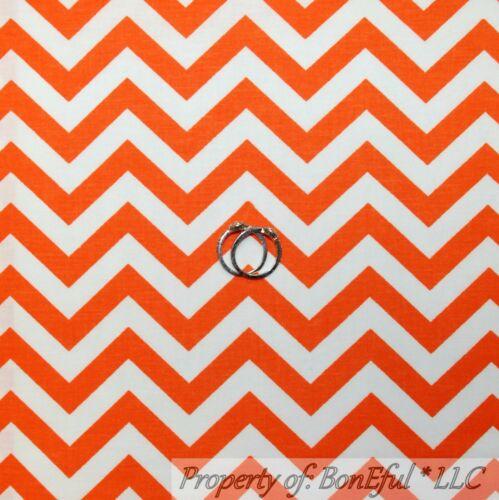 BonEful Fabric FQ Cotton Quilt ORANGE White Girl Boy Chevron Halloween Stripe US