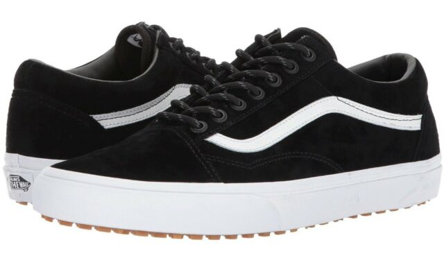 28a20b28ef6d2f VANS Old Skool Mens Black Canvas Lace up SNEAKERS Shoes 8 for sale ...