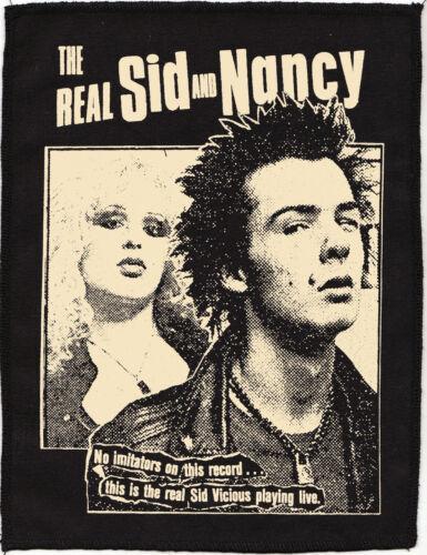 THE REAL SID VICIOUS NANCY SPUNGEN PUNK ROCK 1977 BLACK COTTON PATCH