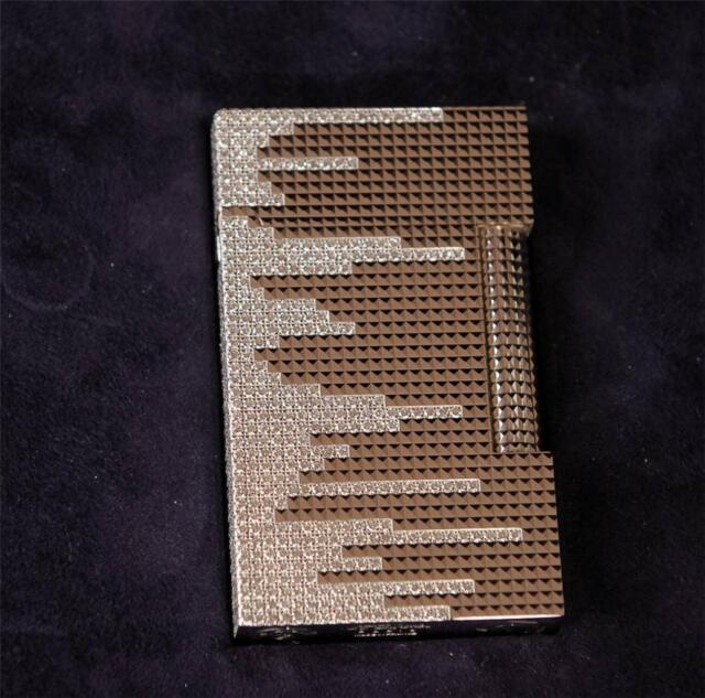 "DUPONT LINE 2 SOLID WHITE GOLD LIGHTER ""DIAMOND RAIN"" - 12.1 CARAT DIAMONDS BNIB"