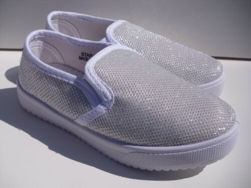 New Canvas Glitter Shoes For Toddler Girls Many sizes /& Colors.