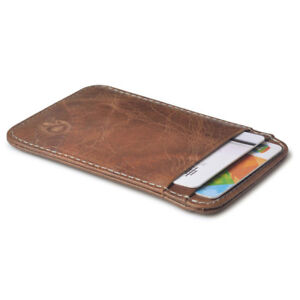 Hot-Fashion-Purse-Men-039-s-Genuine-Leather-Thin-Slim-Wallet-ID-Credit-Card-Holder
