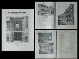 Utile La Construction Moderne N°45 1934 Paris Bains Douches, Ecole Vitry, Gautruche