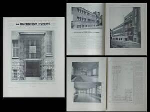 Utile La Construction Moderne N°45 1934 Paris Bains Douches, Ecole Vitry, Gautruche
