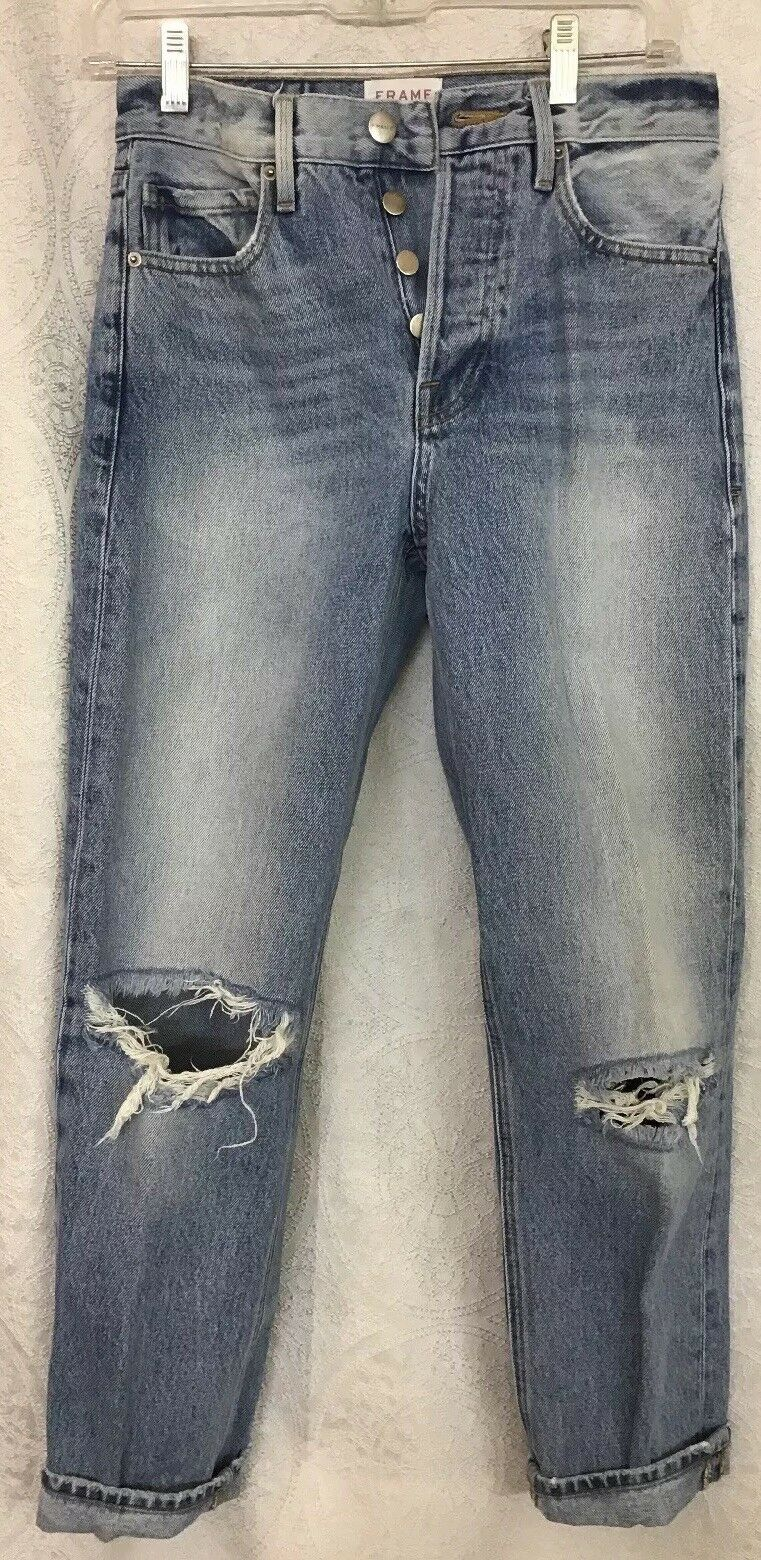 Frame Jeans Rigid Re-Release Le Original Medium Wash Kneehole's Size 25