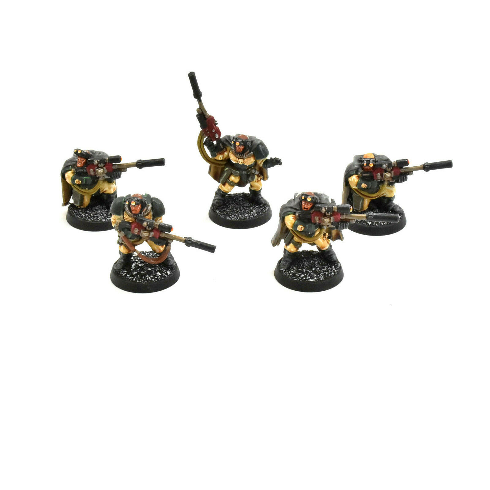 DARK ANGELS 5 scouts with sniper rifles  1 WELL PAINTED Warhammer 40K