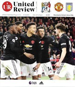 Manchester-United-v-Aston-Villa-1st-December-2019-Match-Programme-19-20