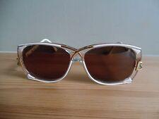 Vintage Cazal White/Gold & Green Oval Sunglasses New Lenses MOD 193 57 13 130