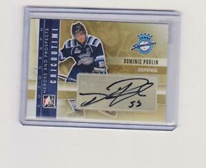 2011-12-DOMINIC-POULIN-HEROES-AND-PROSPECT-AUTOGRAPH-NO-554