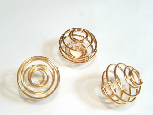 7 x Gold Plated Wire Bead Cages  BNCag7 x Gold Plated Wire Bead Cages BNCage04