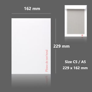 White Hard Board Backed Envelopes Good Quality for Letters Certificates Photo